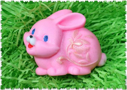 """Мыло ручной работы. Ярмарка Мастеров - ручная работа. Купить мыло """"Зайка"""". Handmade. Розовый, пасхальные яйца, мыло на Пасху"""