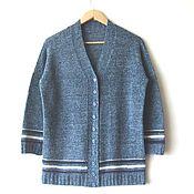"""Одежда ручной работы. Ярмарка Мастеров - ручная работа Кардиган из твидовой пряжи """"favorite jeans"""". Handmade."""