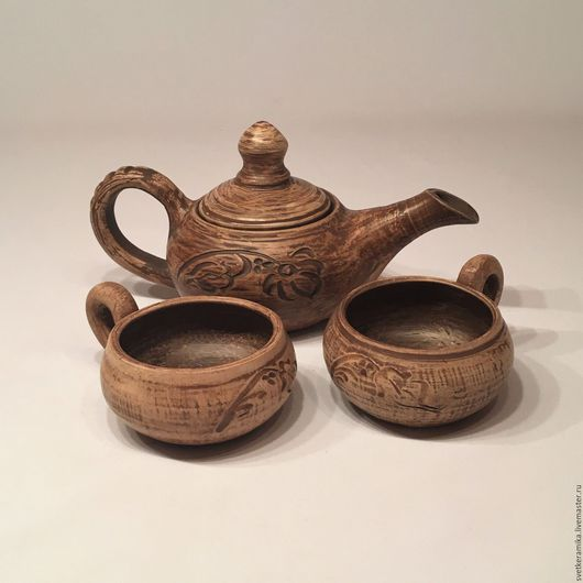 Сервизы, чайные пары ручной работы. Ярмарка Мастеров - ручная работа. Купить Керамический набор для чая «Утренний покой». Handmade.