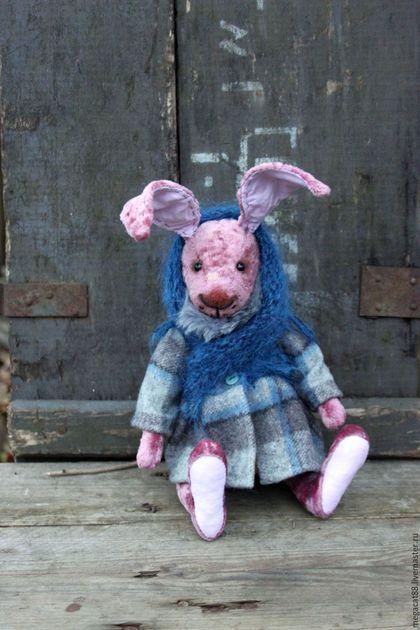 Мишки Тедди ручной работы. Ярмарка Мастеров - ручная работа. Купить Заяц тедди Фрося. Handmade. Коралловый, заяц тильда