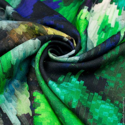 Шитье ручной работы. Ярмарка Мастеров - ручная работа. Купить Шерсть плательная  M.WILLIAMSON сине-зеленая. Handmade.