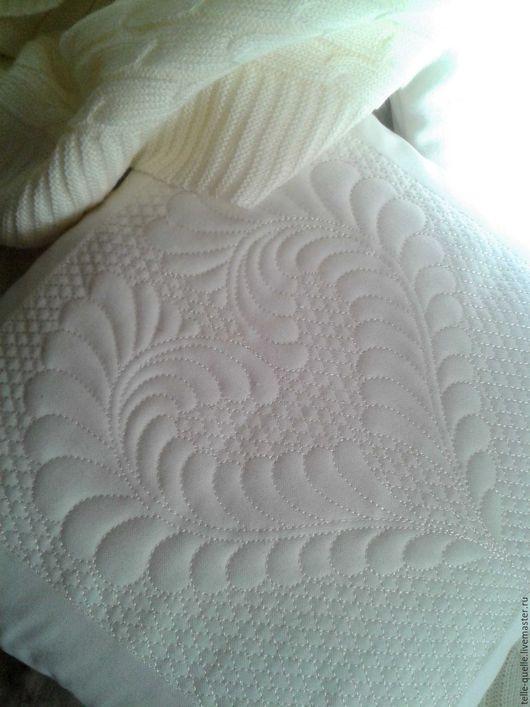"""Текстиль, ковры ручной работы. Ярмарка Мастеров - ручная работа. Купить Программа машинной вышивки """"Трапунто Сердце"""". Handmade. Белый"""