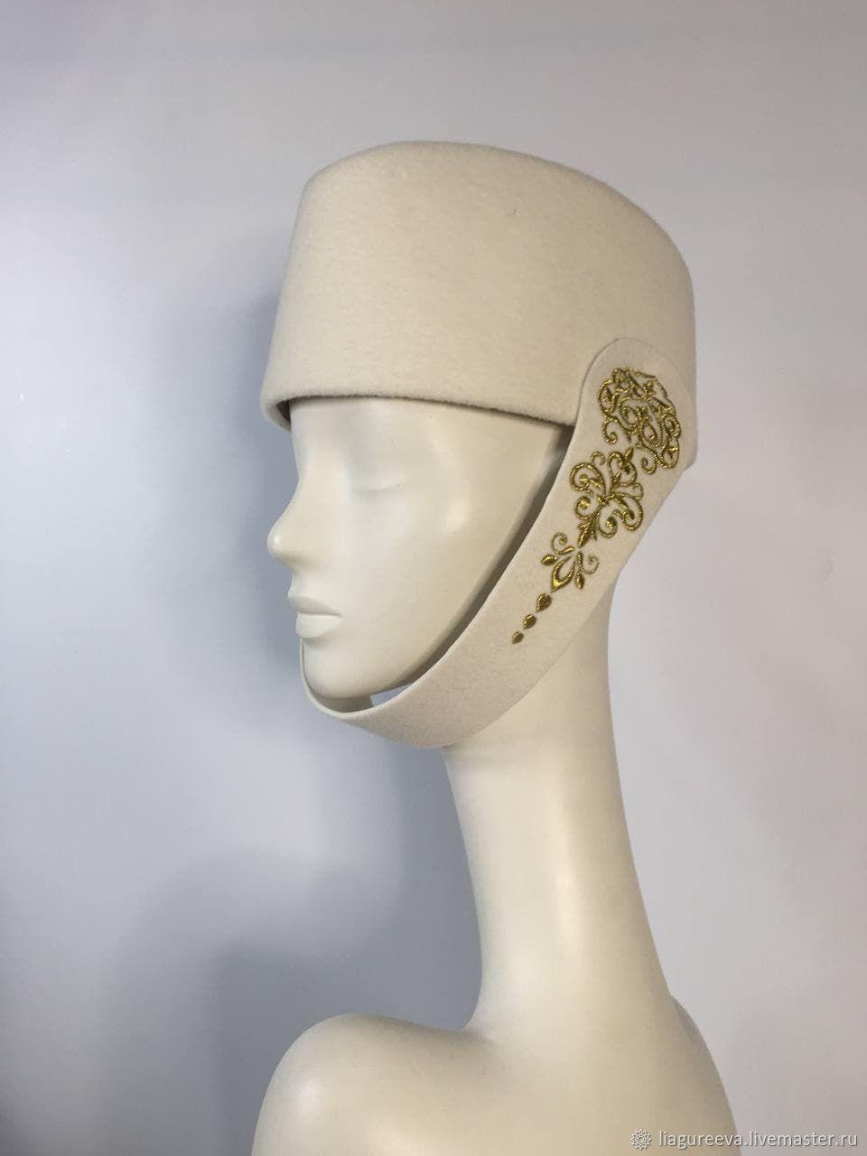 Шляпка тюбетейка с вышивкой, Шляпы, Москва,  Фото №1