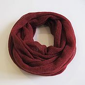 Аксессуары handmade. Livemaster - original item Snood knitted from kid mohair dark red (in two turns). Handmade.