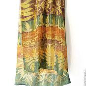 Аксессуары ручной работы. Ярмарка Мастеров - ручная работа Шелковый шарф Вот и осень, окрашен вручную. Handmade.