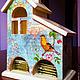 """Кухня ручной работы. Ярмарка Мастеров - ручная работа. Купить Чайный домик """"Золотая пташка"""". Handmade. Мятный, подарок для кухни"""