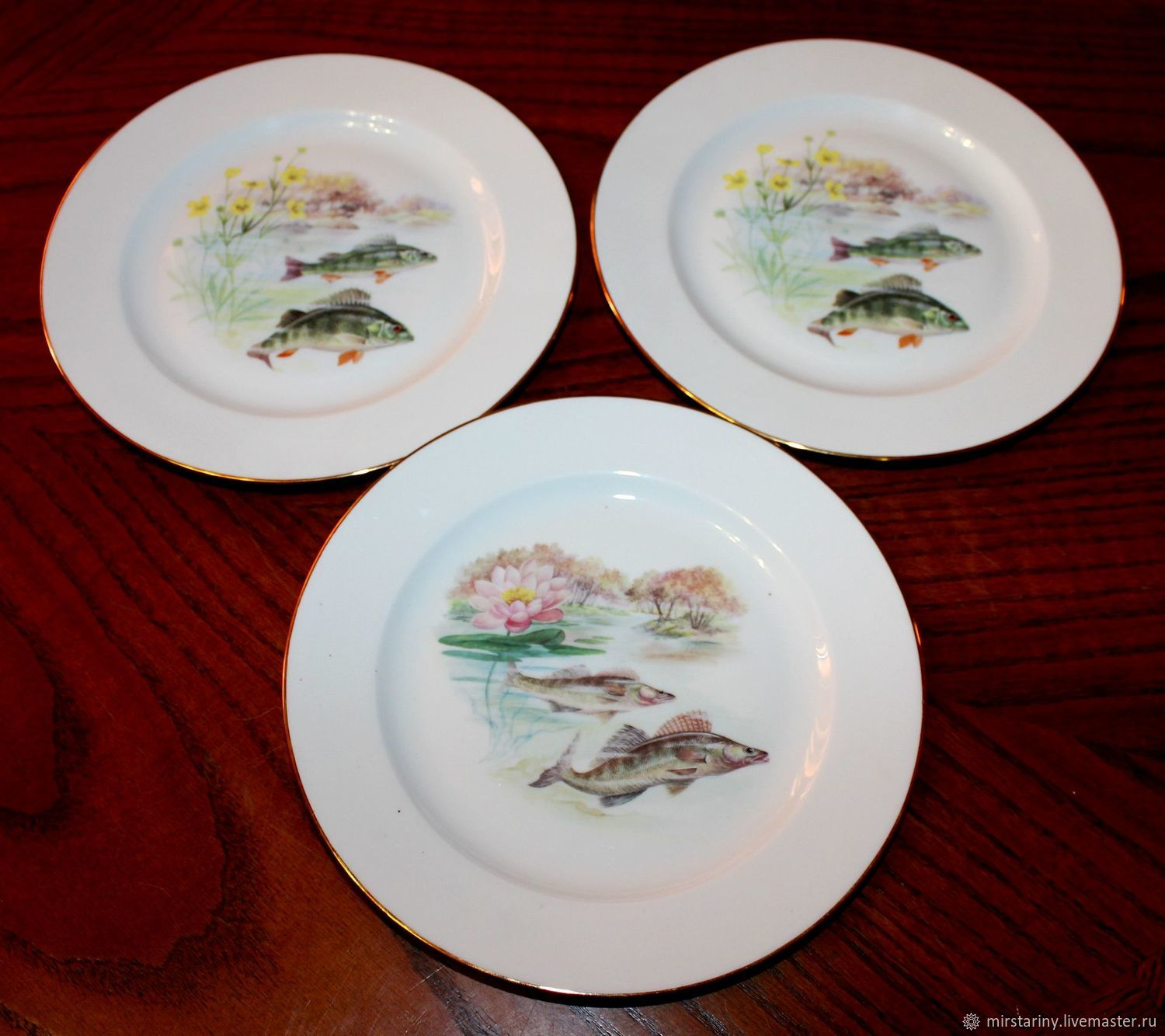 Vintage table plates 'Fish' Limoges, France, Vintage plates, Moscow,  Фото №1