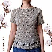 Одежда handmade. Livemaster - original item Scervino women`s blouse, knitting, broomstick, summer, cotton. Handmade.