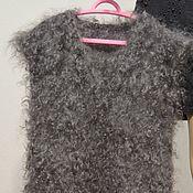 Одежда handmade. Livemaster - original item Puffer vest the so dushegreyku goat. Handmade.