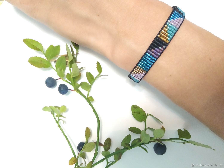 Blueberry bracelet with adjustable length, Bead bracelet, Nizhny Novgorod,  Фото №1