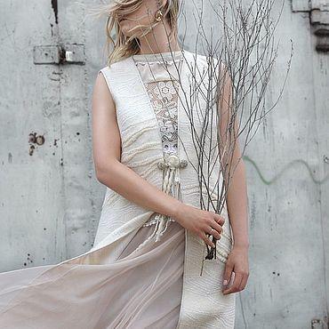 "Clothing handmade. Livemaster - original item Жилет ""Серебро в белом"". Handmade."