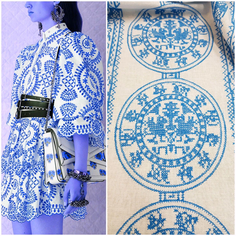 Ткань италия вышивка