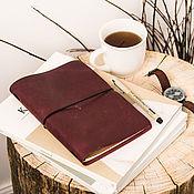 Канцелярские товары handmade. Livemaster - original item Leather notebook A5 with interchangeable notebooks. Handmade.