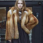 Одежда handmade. Livemaster - original item Fox fur coat with a hood. Handmade.