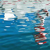 Картины и панно handmade. Livemaster - original item Sea Abstract photo painting for the interior of