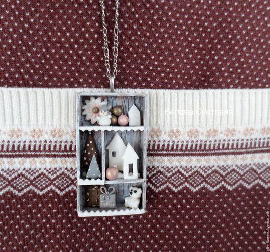 Кулоны, подвески ручной работы. Ярмарка Мастеров - ручная работа. Купить Кулон Шедоу бокс Скандинавия из полимерной глины. Handmade.