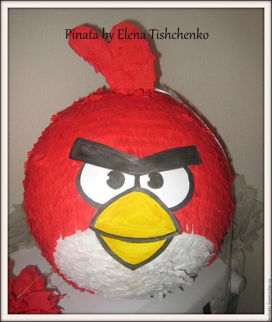Праздничная атрибутика ручной работы. Ярмарка Мастеров - ручная работа. Купить Пиньята Angry Birds. Handmade. Пиньята, handmade, назаказ