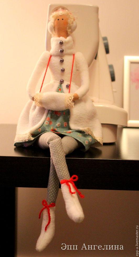 Куклы Тильды ручной работы. Ярмарка Мастеров - ручная работа. Купить Тильда в шубке. Handmade. Белый, интерьерная игрушка