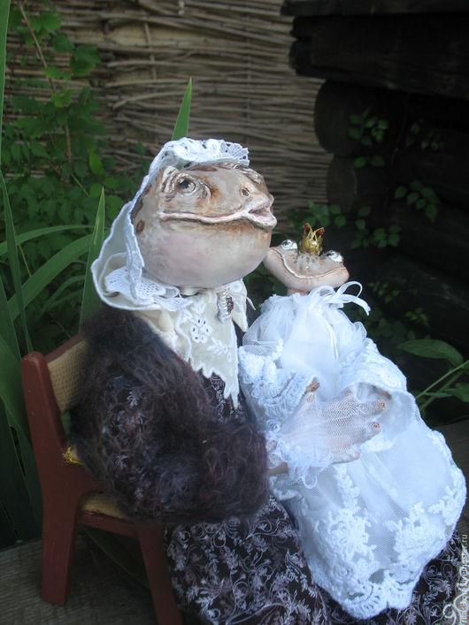 Сказочные персонажи ручной работы. Ярмарка Мастеров - ручная работа. Купить Бабушка лягушка Марго и принцесса Мари. Handmade. Оранжевый