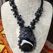 Украшения handmade. Livemaster - original item Pendant necklace with agate. Handmade.