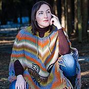 Одежда ручной работы. Ярмарка Мастеров - ручная работа Кейп-пончо в индейских мотивах. Handmade.