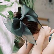 Украшения handmade. Livemaster - original item Bow Emerald. Handmade.