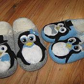 """Обувь ручной работы. Ярмарка Мастеров - ручная работа Тапочки из шерсти """"Пингвинчики"""". Handmade."""