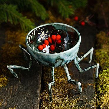 Посуда ручной работы. Ярмарка Мастеров - ручная работа Кружки: Шикарная Паучина. Handmade.
