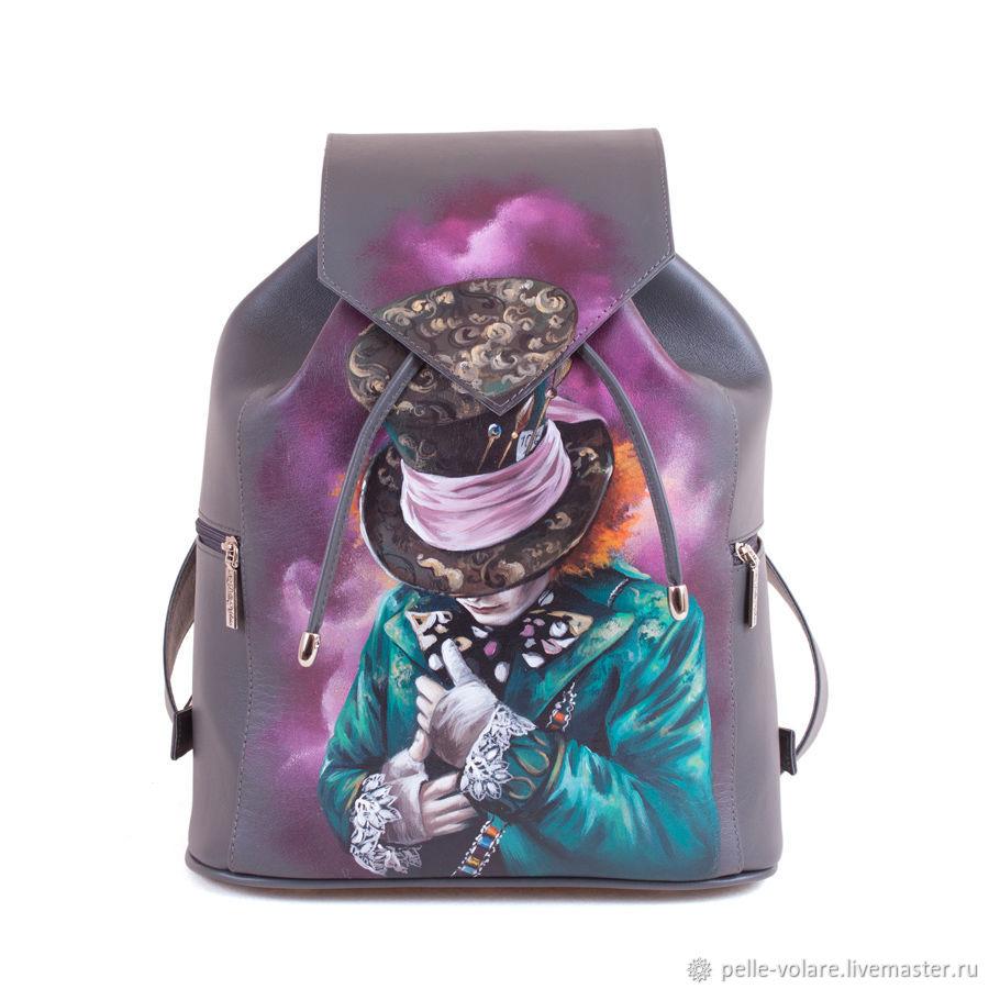 Womens leather backpack 'Hatter', Backpacks, St. Petersburg,  Фото №1