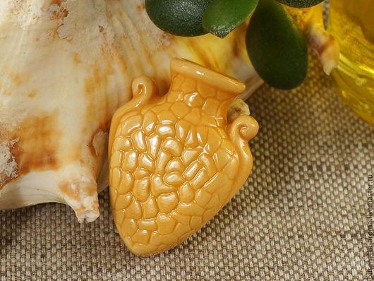 Для украшений ручной работы. Ярмарка Мастеров - ручная работа. Купить Аромакулон керамический №9 (желтый). Handmade. Аромакулон, ароматерапия