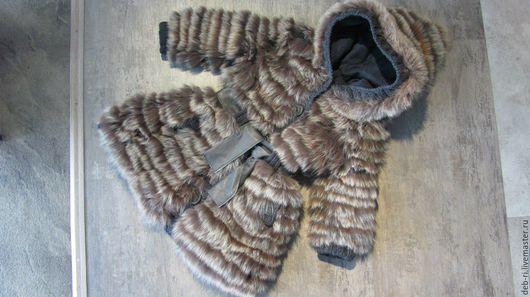 Одежда для девочек, ручной работы. Ярмарка Мастеров - ручная работа. Купить Шуба из песца. Handmade. Коричневый, для девочки, зима, шуба