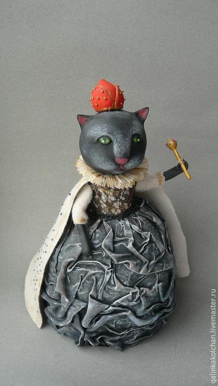 Коллекционные куклы ручной работы. Ярмарка Мастеров - ручная работа. Купить Черная королева. Handmade. Чёрно-белый, коллекционные игрушки