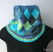 Аксессуары handmade. Livemaster - original item Turquoise Snood scarf Snood interlock. Handmade.