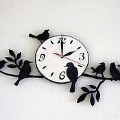 Для дома и интерьера ручной работы. Ярмарка Мастеров - ручная работа Часы с птичками. Handmade.