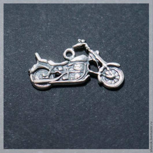 Для украшений ручной работы. Ярмарка Мастеров - ручная работа. Купить Подвеска Мотоцикл  серебро 925 проба с чернением. Handmade.