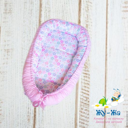 """Для новорожденных, ручной работы. Ярмарка Мастеров - ручная работа. Купить Гнездышко кокон для новорожденного babynest """"Нежность"""". Handmade."""