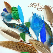 Украшения handmade. Livemaster - original item Hair clip with feathers and tassels. Handmade.