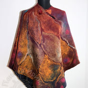 """Одежда ручной работы. Ярмарка Мастеров - ручная работа пончо """"Взмах"""". Handmade."""