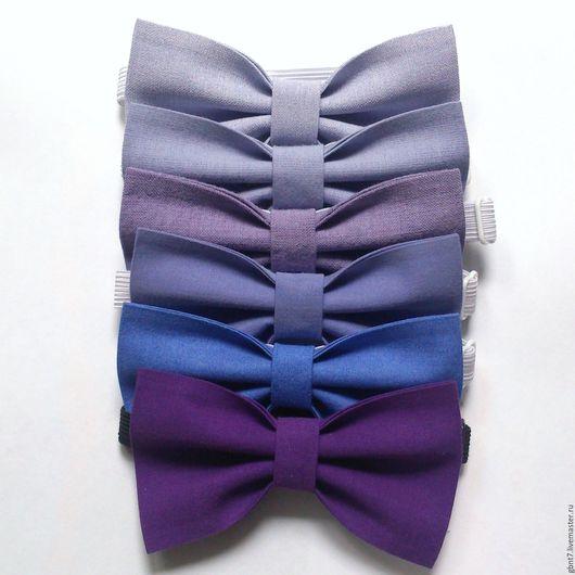 Галстуки, бабочки ручной работы. Ярмарка Мастеров - ручная работа. Купить Галстук-бабочка фиолетовая сиреневая лавандовая. Handmade. Однотонный