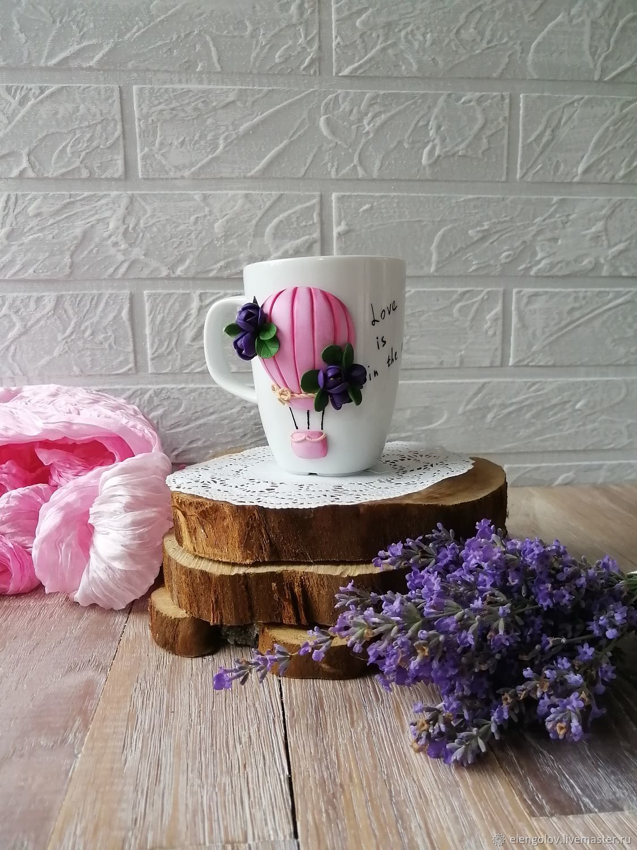 Чашки:Любовь витает в воздухе, Кружки и чашки, Москва,  Фото №1