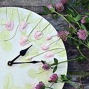 Для дома и интерьера ручной работы. Ярмарка Мастеров - ручная работа Часы Венок клевера. Handmade.