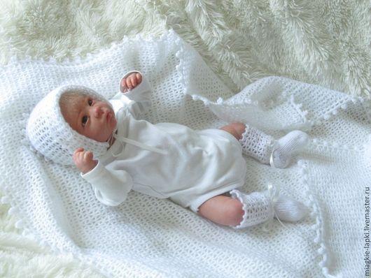"""Для новорожденных, ручной работы. Ярмарка Мастеров - ручная работа. Купить """"Легкое облако"""" - комплект. Handmade. Белый, комплект для мальчика"""