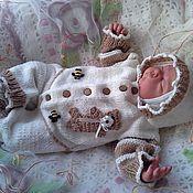 """Работы для детей, ручной работы. Ярмарка Мастеров - ручная работа Комбинезон для новорожденного """"Мишка"""". Handmade."""