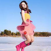 """Одежда ручной работы. Ярмарка Мастеров - ручная работа Платье """"Фея Весна"""" спицами и крючком из мохера. Handmade."""