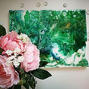 """Картины ручной работы. Ярмарка Мастеров - ручная работа Картина в зелёных тонах """"Лето"""". Handmade."""