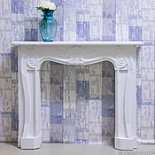 Столы ручной работы. Ярмарка Мастеров - ручная работа Каминный портал Прованс белый. Handmade.