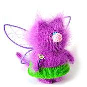 Мягкие игрушки ручной работы. Ярмарка Мастеров - ручная работа КотоФея СПИЦЫ мастер-класс спицами кошка игрушка вязаная. Handmade.