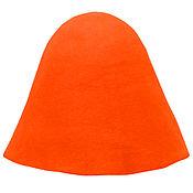 Материалы для творчества ручной работы. Ярмарка Мастеров - ручная работа Фетровый колпак для изготовления шляп и головных уборов Оранжевый. Handmade.