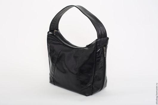 Женские сумки ручной работы. Ярмарка Мастеров - ручная работа. Купить Натуральная кожа сумочка 105. Handmade. Черный