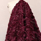 """Материалы для творчества ручной работы. Ярмарка Мастеров - ручная работа RZ02-205 Розы на сетке 3D крупные. Цвет """"бордовый"""". Handmade."""